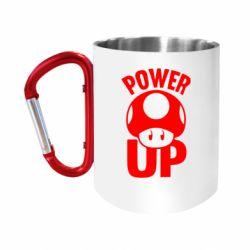 """Кружка с ручкой """"карабин"""" Power Up гриб Марио"""