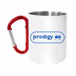 Кружка з ручкою-карабіном Prodigy Логотип