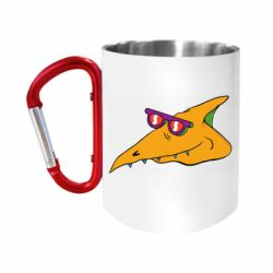 Кружка з ручкою-карабіном Pterodactyl in glasses