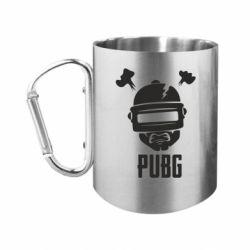 """Кружка с ручкой """"карабин"""" PUBG: hero face"""