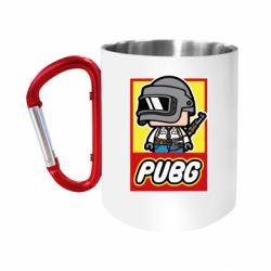 """Кружка с ручкой """"карабин"""" PUBG LEGO"""