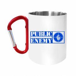 Кружка з ручкою-карабіном Public Enemy