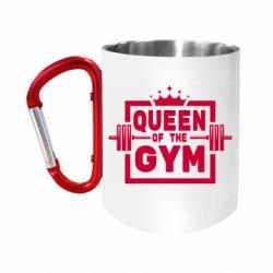 Кружка з ручкою-карабіном Queen Of The Gym