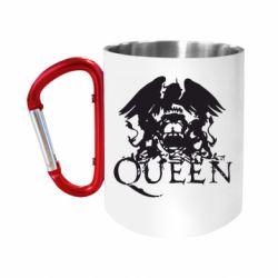 """Кружка с ручкой """"карабин"""" Queen"""