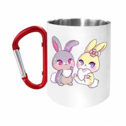 Кружка з ручкою-карабіном Rabbits In Love