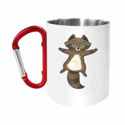 Кружка з ручкою-карабіном Raccoon