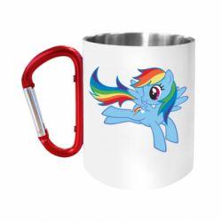 Кружка з ручкою-карабіном Rainbow Dash run
