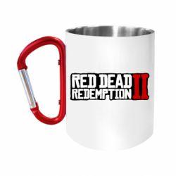 Кружка з ручкою-карабіном Red Dead Redemption logo