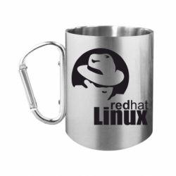 Кружка з ручкою-карабіном Redhat Linux