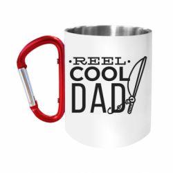 """Кружка с ручкой """"карабин"""" Reel cool dad"""