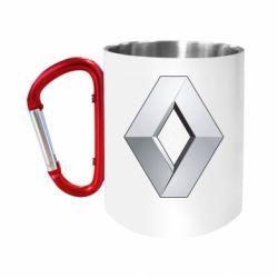 Кружка з ручкою-карабіном Renault Logo