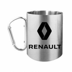 Кружка з ручкою-карабіном Renault logotip
