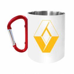 """Кружка с ручкой """"карабин"""" Renault"""