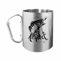 Кружка з ручкою-карабіном Respect fish