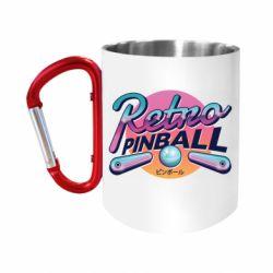 """Кружка с ручкой """"карабин"""" Retro pinball"""