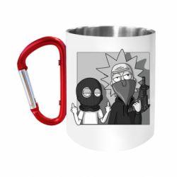 """Кружка с ручкой """"карабин"""" Rick and Morty Bandits"""