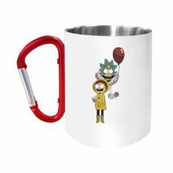 """Кружка с ручкой """"карабин"""" Rick and Morty: It 2"""