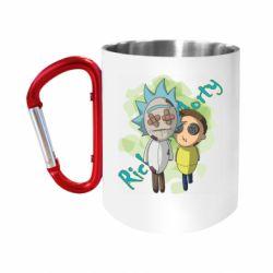 Кружка з ручкою-карабіном Rick and Morty voodoo doll