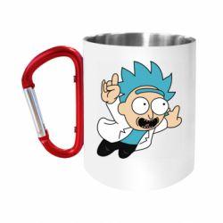 "Кружка с ручкой ""карабин"" Rick is flying"