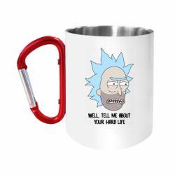 "Кружка с ручкой ""карабин"" Rick live"