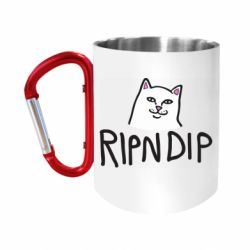Кружка з ручкою-карабіном Ripndip and cat