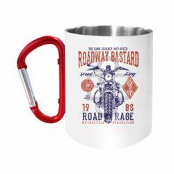 Кружка з ручкою-карабіном Roadway Bastard