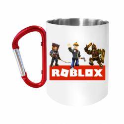 "Кружка с ручкой ""карабин"" Roblox Heroes"
