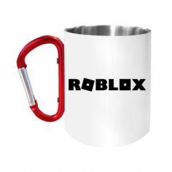 """Кружка с ручкой """"карабин"""" Roblox inscription"""