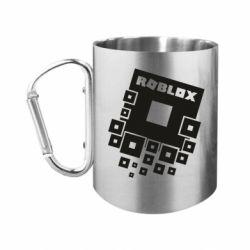 """Кружка с ручкой """"карабин"""" Roblox logos"""
