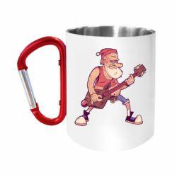 Кружка з ручкою-карабіном Rock'n'roll Santa