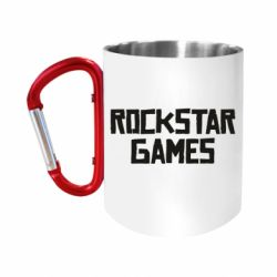 Кружка з ручкою-карабіном Rock star games