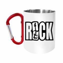 """Кружка с ручкой """"карабин"""" Rock"""