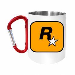 Кружка з ручкою-карабіном Rockstar Games logo