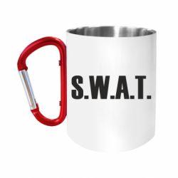 """Кружка с ручкой """"карабин"""" S.W.A.T."""