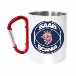 "Кружка с ручкой ""карабин"" SAAB Scania"