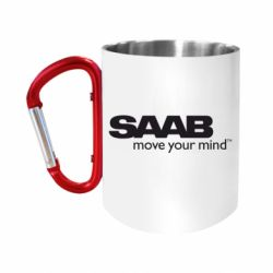 Кружка з ручкою-карабіном SAAB