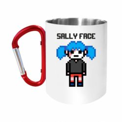 Кружка з ручкою-карабіном Sally face pixel