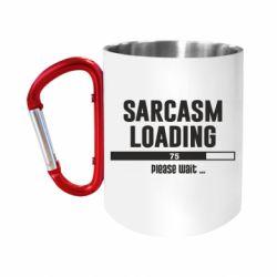 Кружка з ручкою-карабіном Sarcasm loading