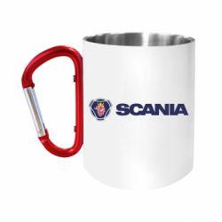 Кружка з ручкою-карабіном Scania Logo