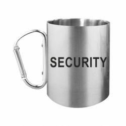 """Кружка с ручкой """"карабин"""" Security"""