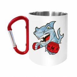 Кружка з ручкою-карабіном Shark MMA