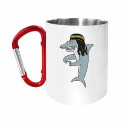 Кружка з ручкою-карабіном Shark Rastaman