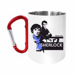 """Кружка с ручкой """"карабин"""" Sherlock (Шерлок Холмс)"""