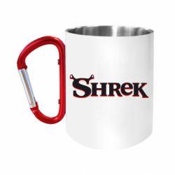 """Кружка с ручкой """"карабин"""" Shrek"""