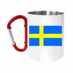 Кружка з ручкою-карабіном Швеція