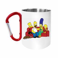 "Кружка с ручкой ""карабин"" Simpsons At Home"