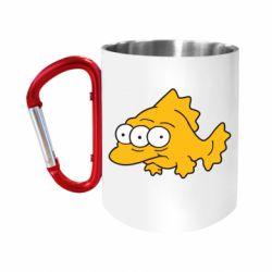 """Кружка с ручкой """"карабин"""" Simpsons three eyed fish"""