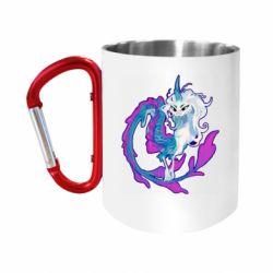 """Кружка з ручкою """"карабін"""" Sisu Dragon Art"""