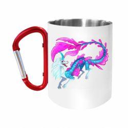"""Кружка з ручкою """"карабін"""" Sisu Water Dragon"""