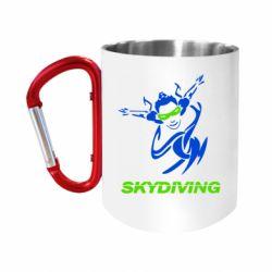 Кружка з ручкою-карабіном Skidiving